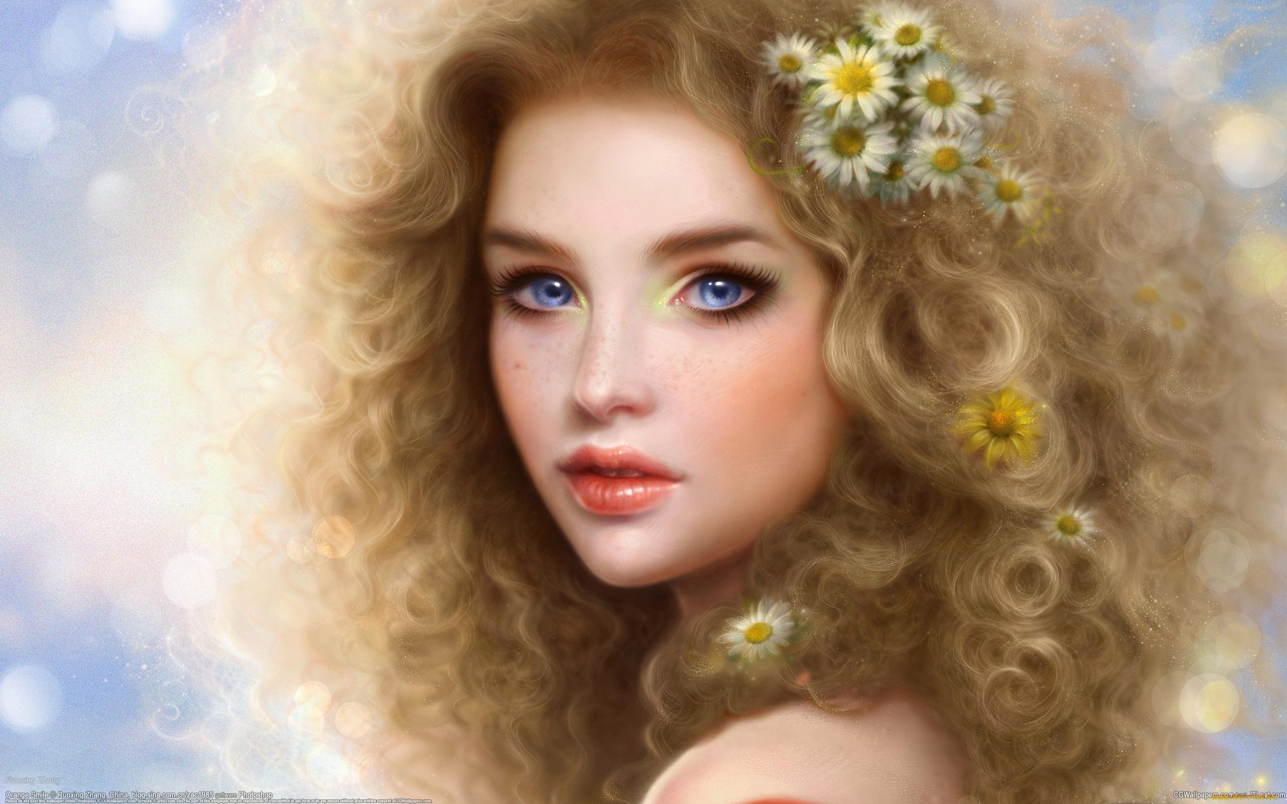 Ruoxing zhang фэнтези девушки блондинка